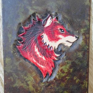 Marque-Page Loup Rouge Cuir