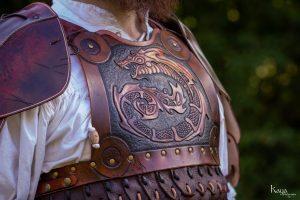 Armure de GN en cuir, lamellaire dragon léviathan