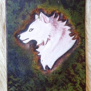 Marque-page loup blanc