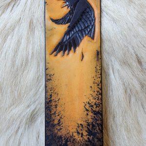 Marque-page corbeau ocre jaune